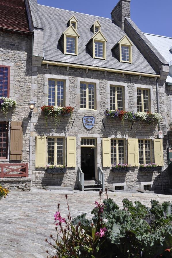 Quebec, 28th Czerwiec: Historyczny dom od miejsca Royale Stary Quebec miasto w Kanada obrazy royalty free