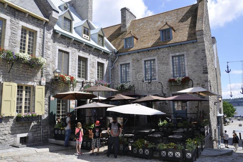 Quebec, 28th Czerwiec: Miejsce Royale od Starego Quebec miasta w Kanada zdjęcia stock