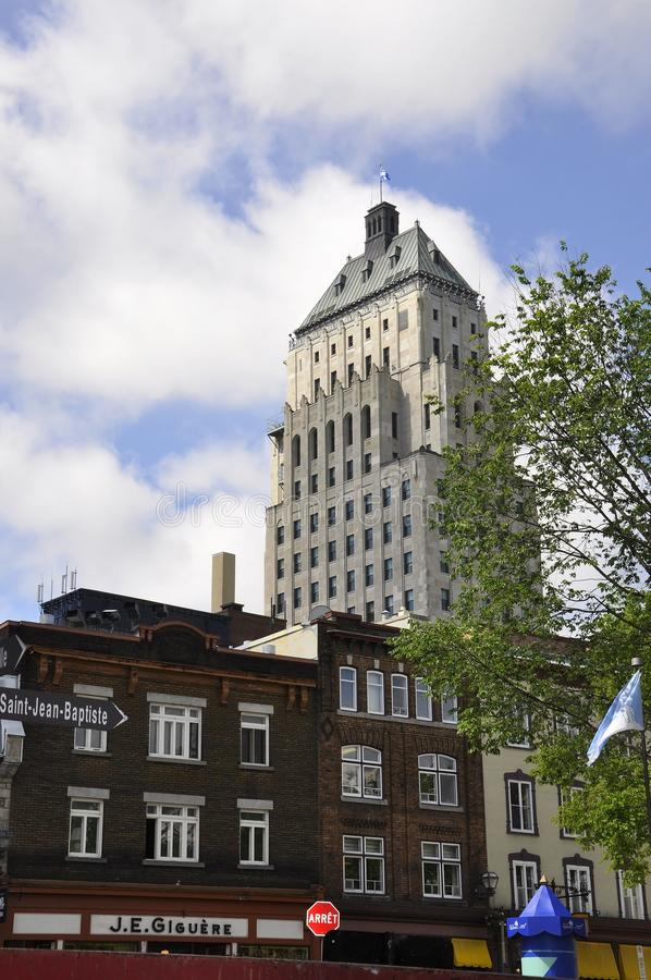 Quebec, 29th June: Edifice Price Building from Old Quebec City in Canada stock photos