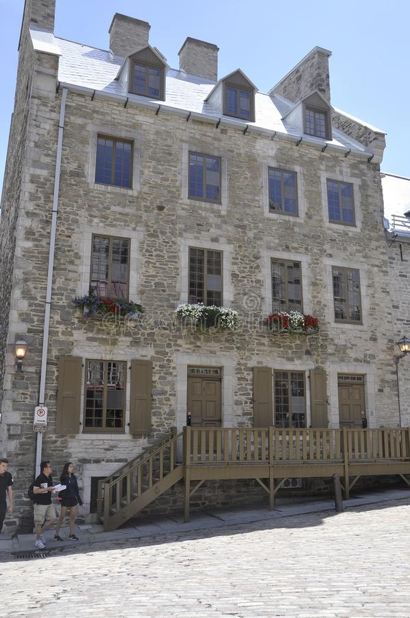 Quebec, 28th June: Historic House from Place Royale of Old Quebec City in Canada. Historic House from Place Royale of Old Quebec City in Canada on 28th june 2017 royalty free stock image