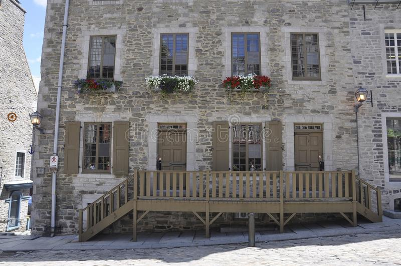 Quebec, 28th June:Historic House from Place Royale of Old Quebec City in Canada. Historic House from Place Royale of Old Quebec City in Canada on 28th june 2017 royalty free stock images