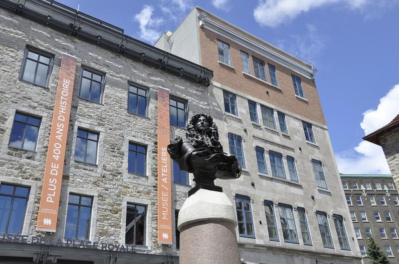Quebec, 28th June: LouisXIV Bust from Place Royale from Old Quebec City in Canada. LouisXIV Bust from Place Royale from Old Quebec City in Canada on 28th june stock images