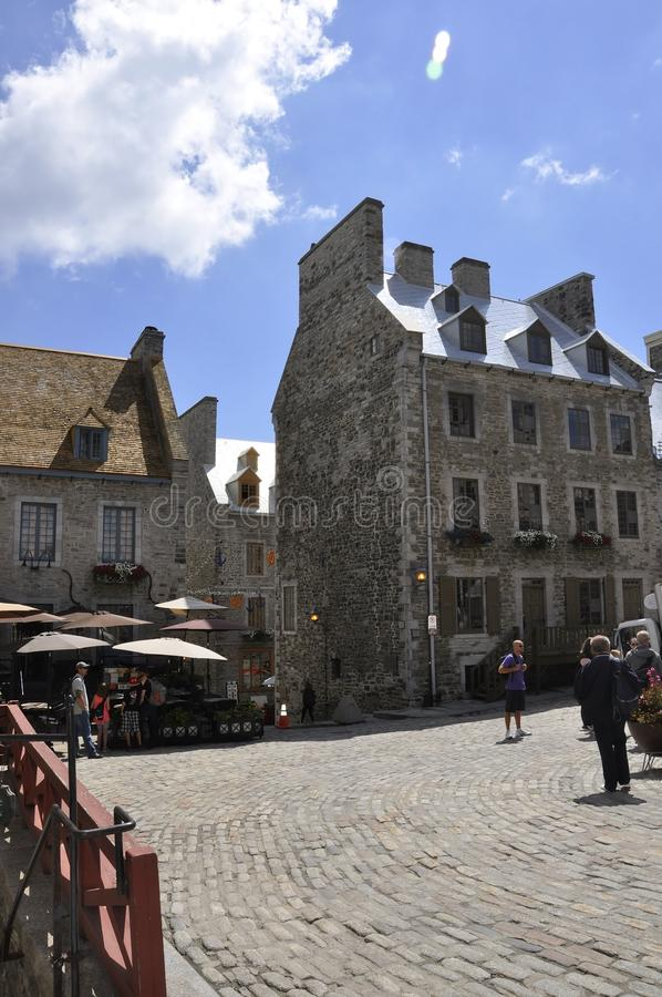 Quebec, 28th June:Place Royale from Old Quebec City in Canada. Place Royale with Historic House from Old Quebec City in Canada on 28th june 2017 royalty free stock photography