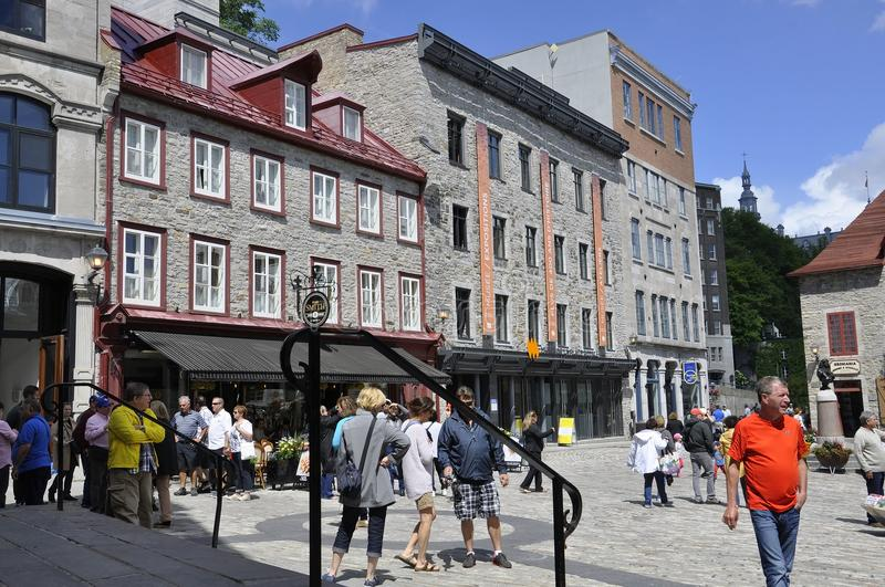 Quebec, 28th June: Place Royale from Old Quebec City in Canada. Place Royale from Old Quebec City in Canada on 28th june 2017 stock photos
