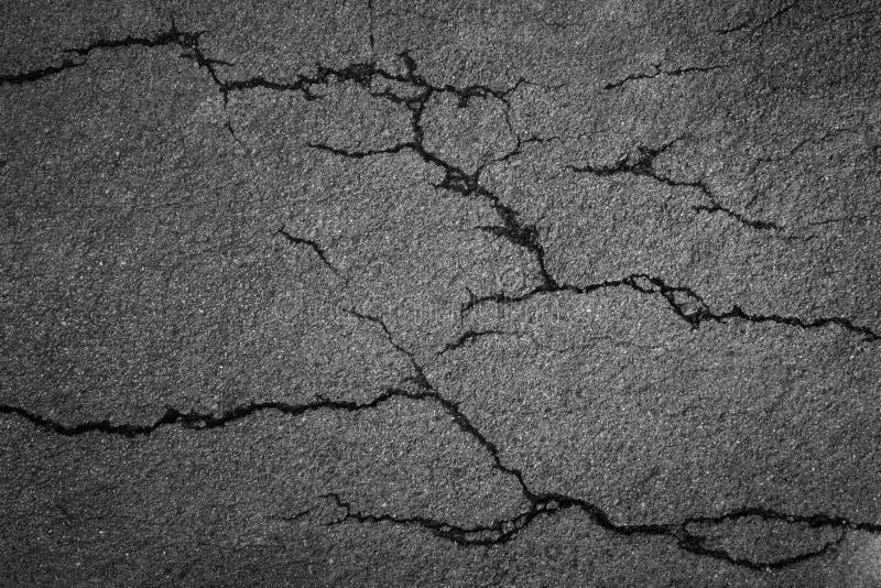 Quebra do asfalto áspero foto de stock