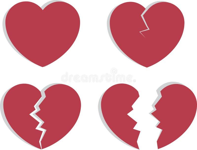 Quebra do coração ilustração royalty free