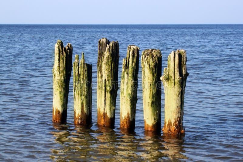 Quebra-mar alemão velho fotos de stock