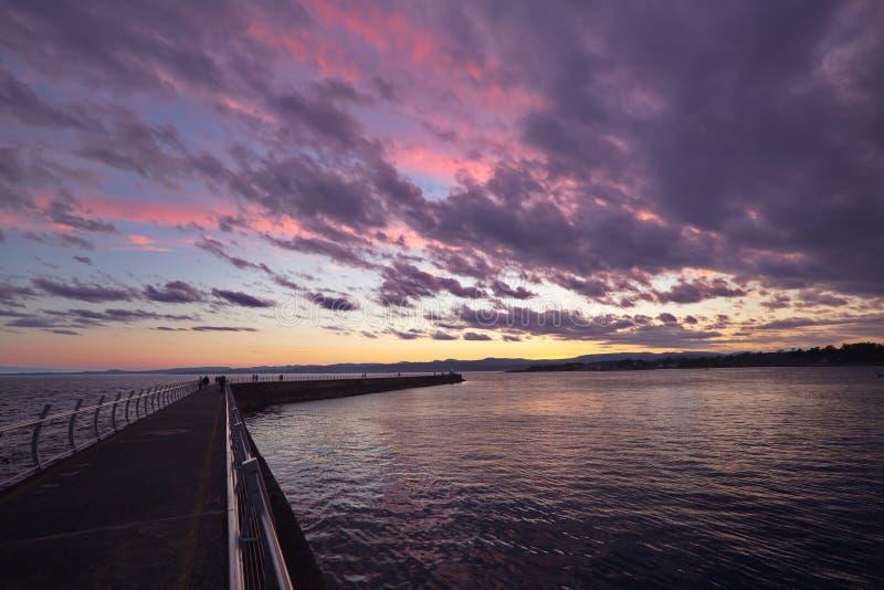 Quebra-mar, Victoria foto de stock
