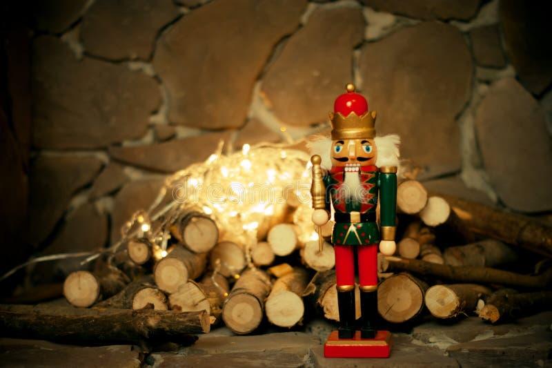 A quebra-nozes Cartão de Natal brinquedo imagem de stock