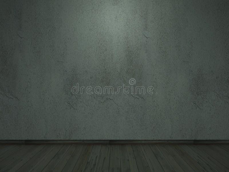 quebra velha o Dia das Bruxas darklight-interior da parede do cimento fotografia de stock royalty free