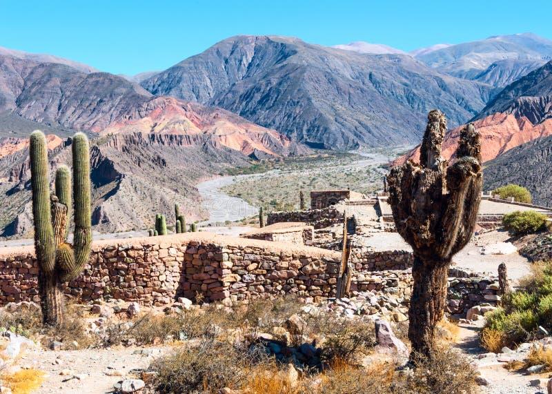 Quebrada de Humahuaca, la Argentina foto de archivo libre de regalías