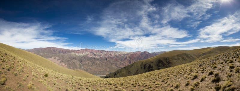 Quebrada de Humahuaca, nordliga Argentina royaltyfri foto