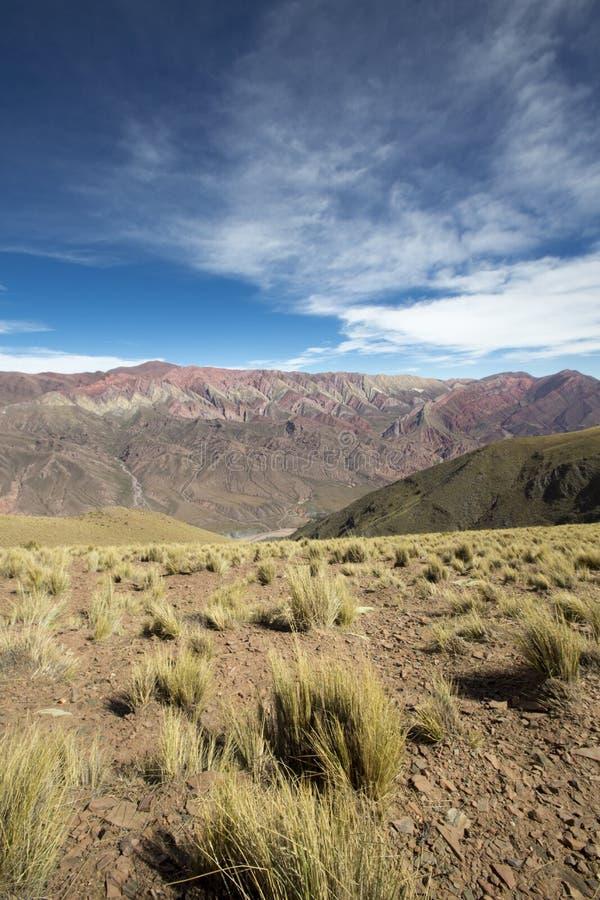 Quebrada de Humahuaca, nordliga Argentina arkivfoto