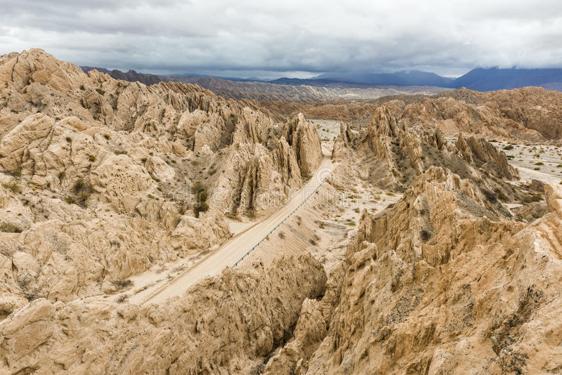 The 'Quebrada de las Flechas' is a rock formation located at National Route 40 in Salta Province, Argentina stock photography