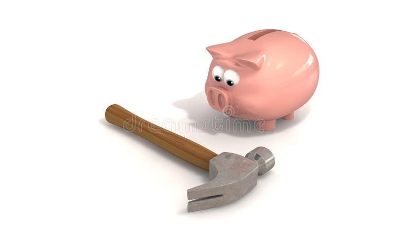 Quebrando o banco ilustração stock
