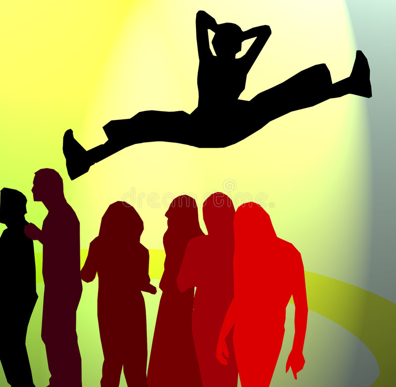 Quebrar-dance Disko ilustração do vetor