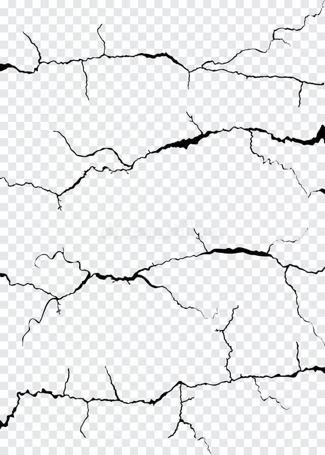 Quebras da parede isoladas ilustração do vetor