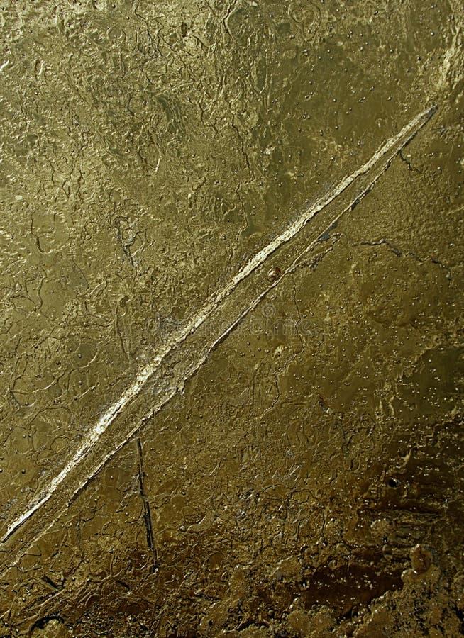 Quebras e bolhas em parte quebrada do gelo Banquisa de gelo da deriva??o foto de stock royalty free