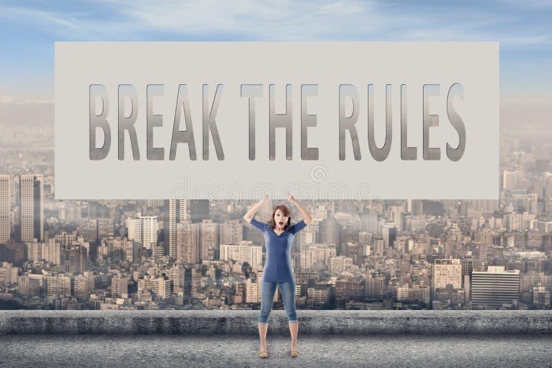 Quebre as regras imagens de stock royalty free