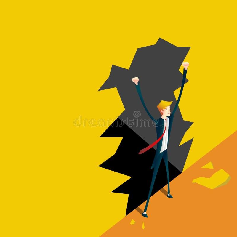 Quebre a parede conceito do negócio ilustração do vetor