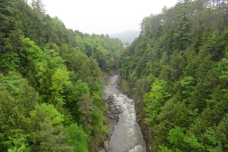 Quechee峡谷,佛蒙特,美国 免版税库存图片