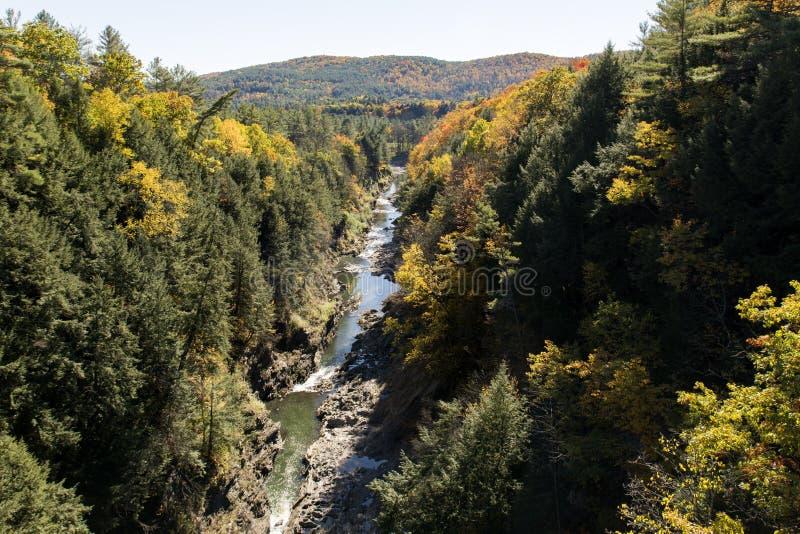 Quechee Gorge in Vermont Autumn stock photo