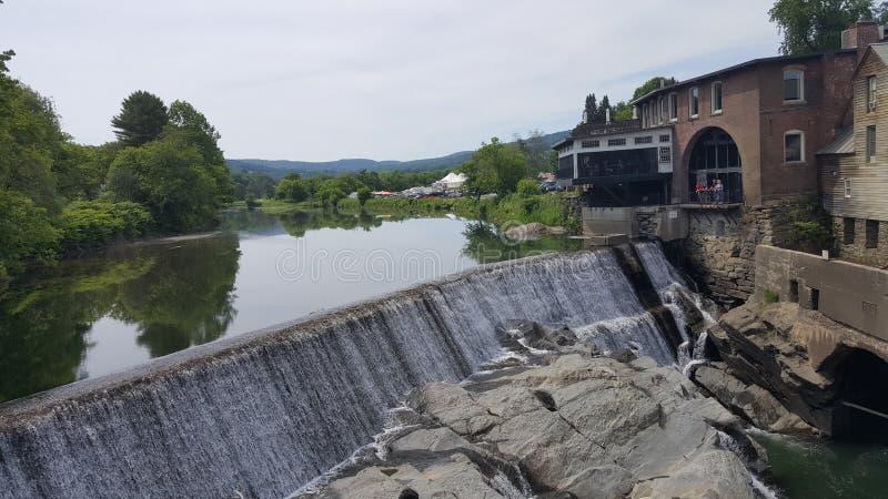Quechee Vermont Dam royalty free stock photo
