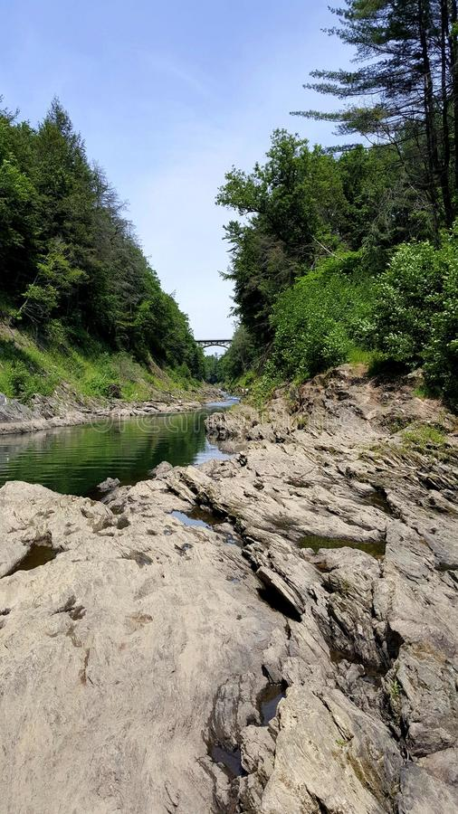 Quechee Vermont Gorge royalty free stock photography