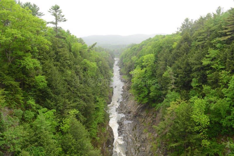Quechee wąwóz, Vermont, usa obrazy royalty free