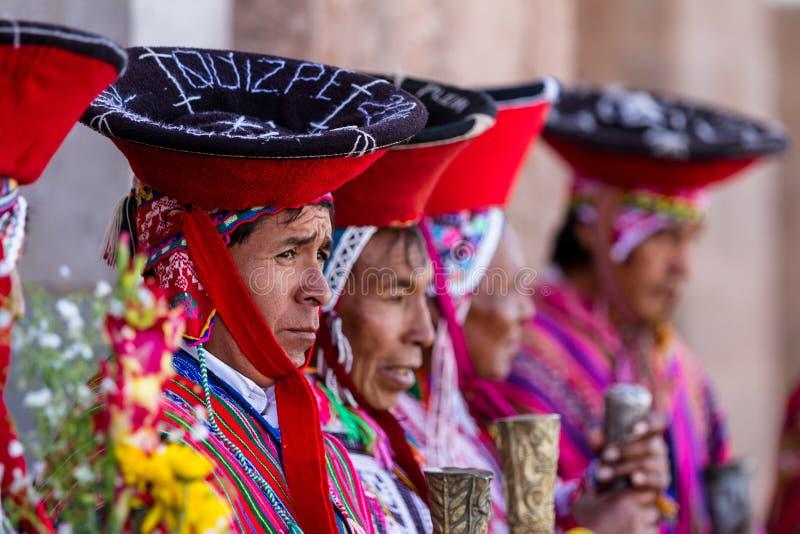 Quechua старейшины в священной долине стоковая фотография rf