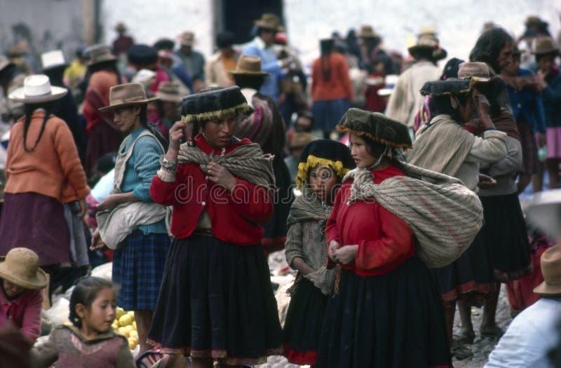 Quechua Indiërs, Peru stock fotografie