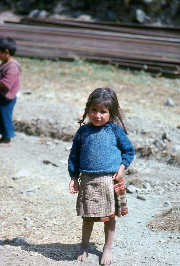 Quechua Meisje royalty-vrije stock foto's