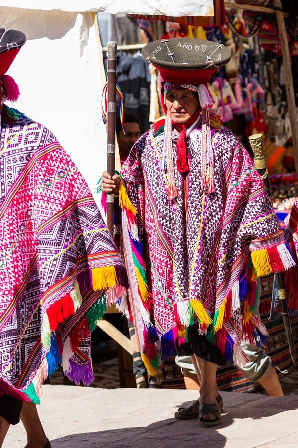 Quechua Oudsten in de Heilige Vallei stock foto