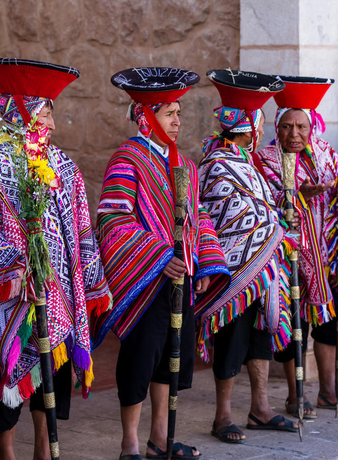 Quechua Oudsten in de Heilige Vallei royalty-vrije stock foto's