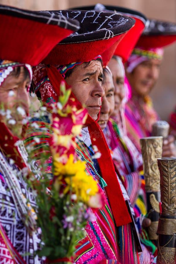 Quechua Oudsten in de Heilige Vallei royalty-vrije stock afbeelding