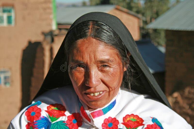 Quechua portret royalty-vrije stock foto