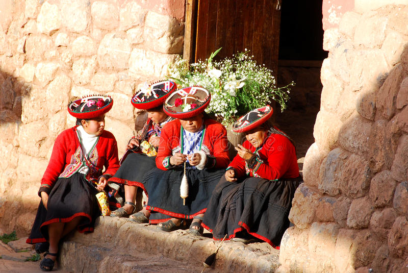 Quechua vrouw stock foto