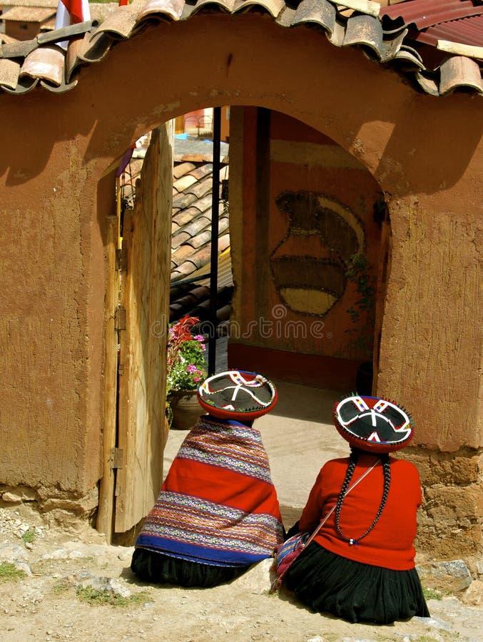 Quechua vrouwen stock foto