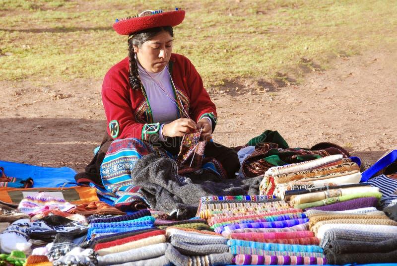 Quechua vrouwen royalty-vrije stock foto's