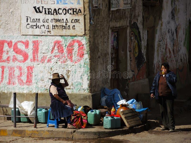 Quechua vrouwen, Peru royalty-vrije stock foto's