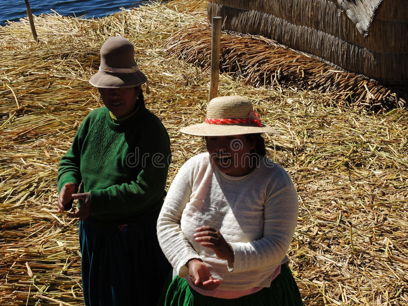 Quechua women, Puno, Peru. royalty free stock photo