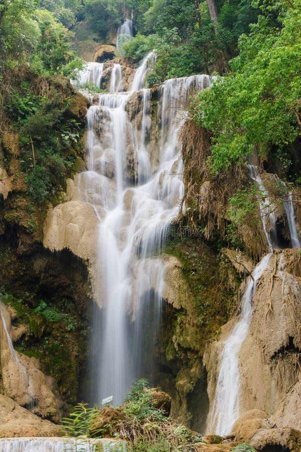 Queda da água de Kouangxi fotos de stock