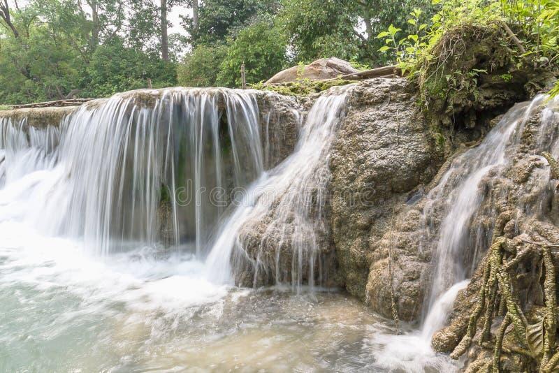 Queda da água em um parque nacional imagens de stock royalty free