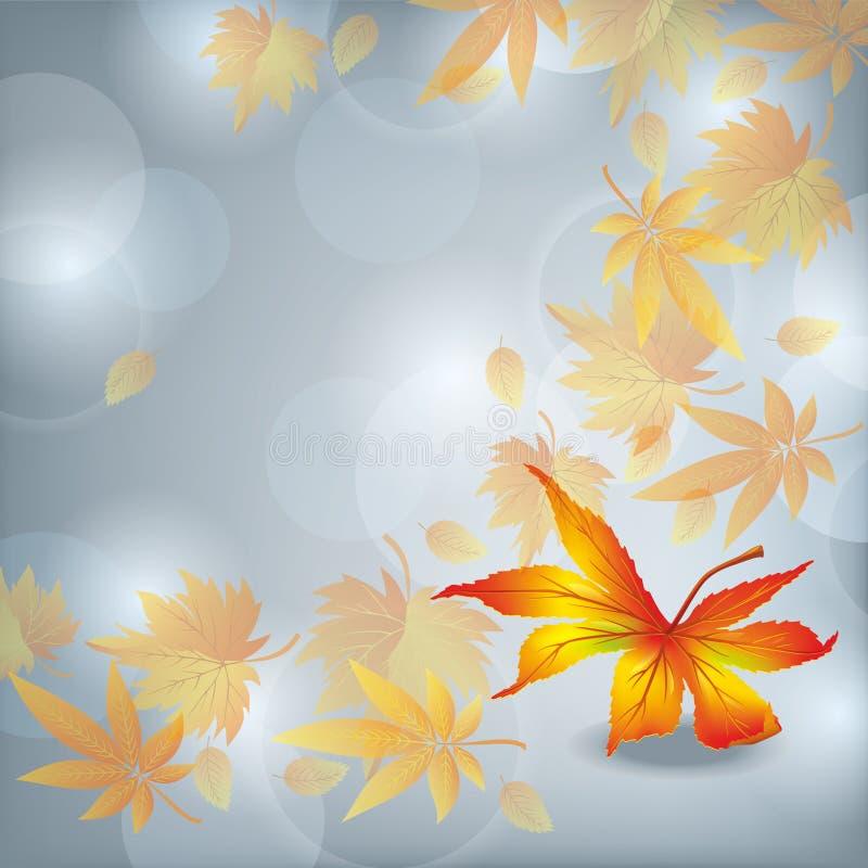 Queda da folha do outono, fundo da natureza ilustração royalty free