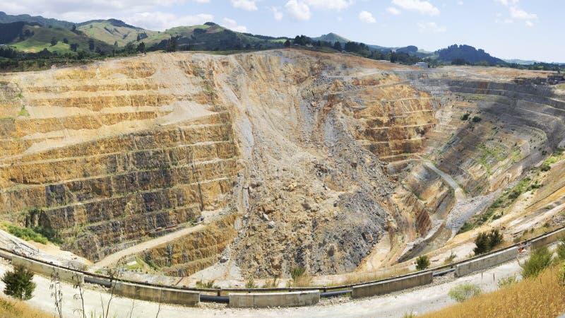 Queda da rocha em Martha Goldmine Waihi New Zealand NZ fotografia de stock