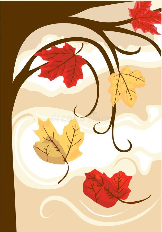 Queda das folhas de outono foto de stock