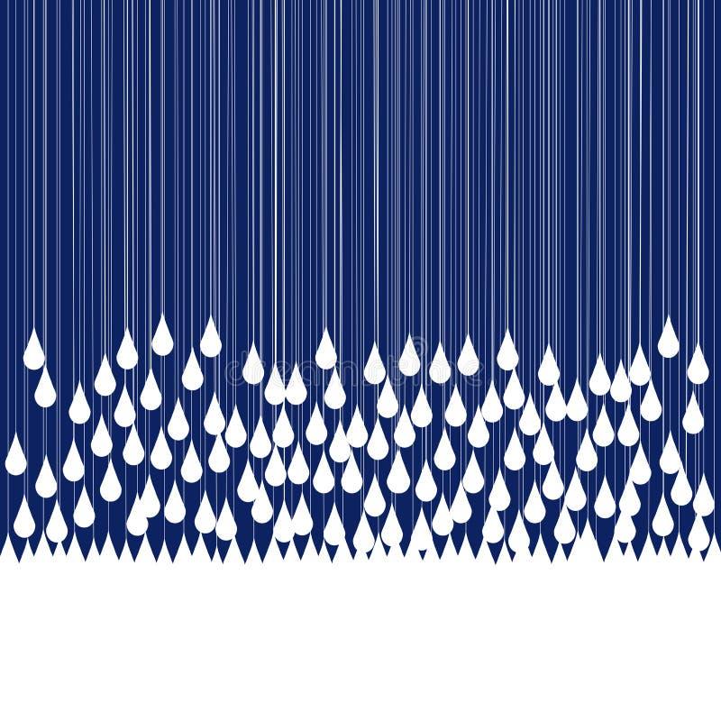 Queda das gotas da chuva ilustração do vetor
