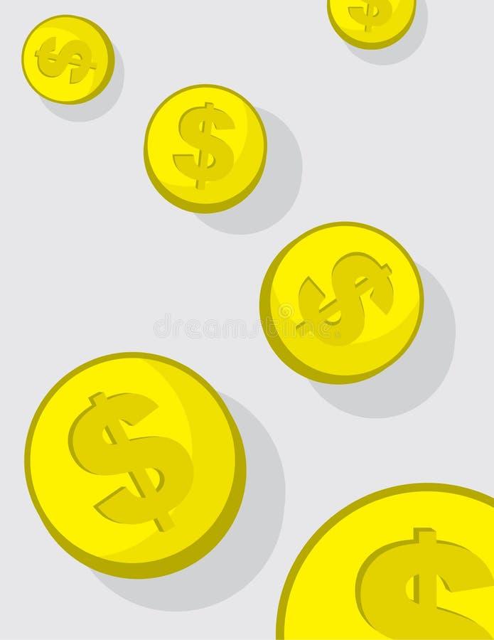 Queda das moedas ilustração do vetor