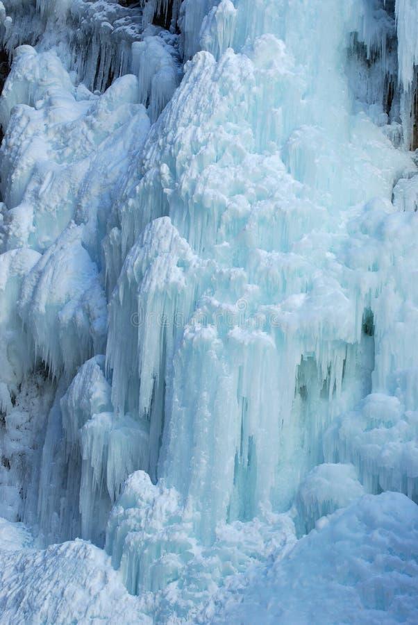 Queda de gelo na garganta de Johnson imagem de stock royalty free
