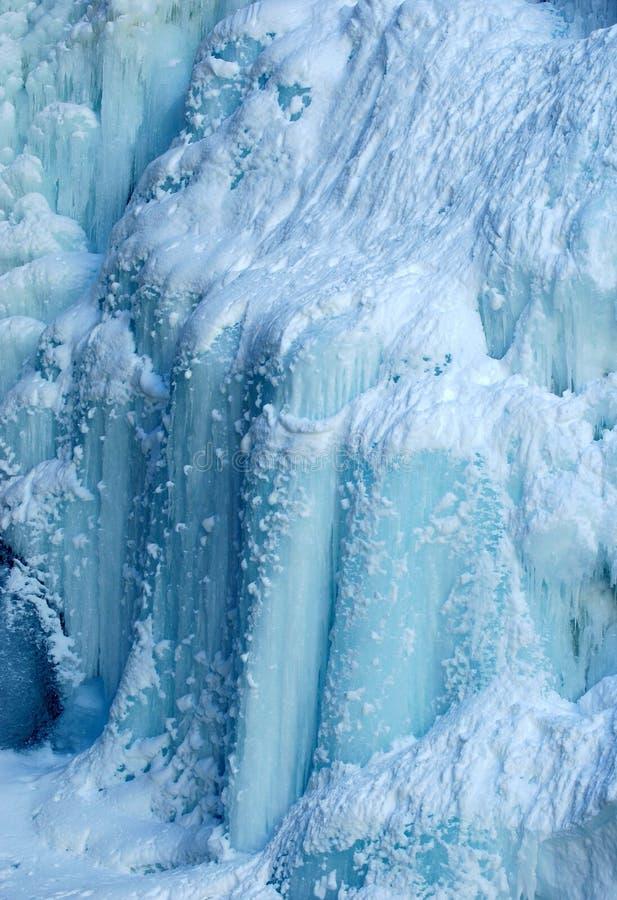 Queda de gelo na garganta de Johnson fotos de stock